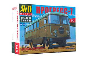 MODEL KIT STAFF PROGRESS-7 BUS (USSR RUSSIAN CAR) | СБОРНАЯ МОДЕЛЬ ШТАБНОЙ АВТОБУС ПРОГРЕСС-7