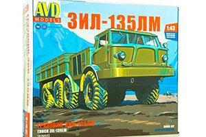 MODEL KIT ZIL-135LM ONBOARD (USSR RUSSIAN CAR) | СБОРНАЯ МОДЕЛЬ ЗИЛ-135ЛМ БОРТОВОЙ