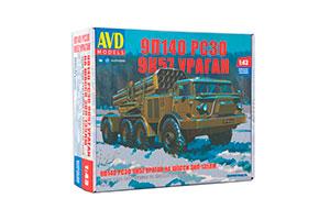 MODEL KIT 9P140 MLRS 9K57 HURRICANE ON CHASSIS ZIL-135LM (USSR RUSSIAN CAR) | СБОРНАЯ МОДЕЛЬ 9П140 РСЗО 9К57 УРАГАН НА ШАССИ ЗИЛ-135ЛМ