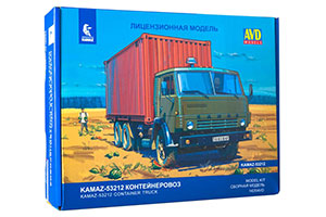 MODEL KIT KAMAZ-53212 CONTAINER TRUCK (USSR RUSSIAN CAR) | СБОРНАЯ МОДЕЛЬ КАМАЗ-53212 КОНТЕЙНЕРОВОЗ *СБОРНАЯ МОДЕЛЬ
