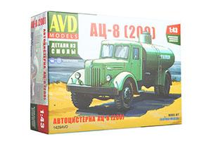 MODEL KIT AC-8 PANZER TRUCK (200) (USSR RUSSIAN CAR) | СБОРНАЯ МОДЕЛЬ АВТОЦИСТЕРНА АЦ-8 (200)
