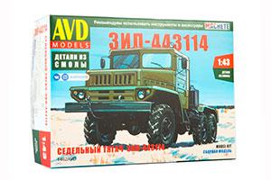 MODEL KIT ZIL-443114 SADDLE TRACTOR (USSR RUSSIAN CAR) | СБОРНАЯ МОДЕЛЬ ЗИЛ-443114 СЕДЕЛЬНЫЙ ТЯГАЧ