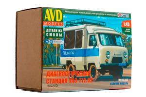 MODEL KIT UAZ-T12.02 (USSR RUSSIA) | СБОРНАЯ МОДЕЛЬ ДИАГНОСТИЧЕСКАЯ СТАНЦИЯ УАЗ-Т12.02