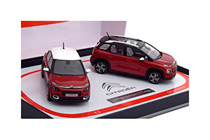 SET OF 2 MODELS CITROEN C3 & C3 AIRCROSS 2017 RED
