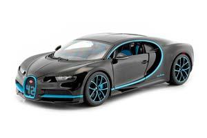 BUGATTI CHIRON WORLD RECORD CAR #42 J.-P. MONTOYA 2021 BLACK