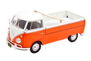 VW VOLKSWAGEN T1 PICK UP WITH SURFBOARD 1950 ORANGE/WHITE *ФОЛЬКСВАГЕН ФОЛЬЦВАГЕН