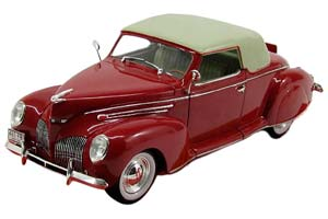 LINCOLN ZEPHYR CONVERTIBLE COUPE 1939 DARK RED