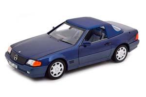MERCEDES W129 500SL CABRIOLET (R129) WITH TENT 1989 BLUE METALLIC