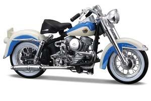 HARLEY DAVIDSON FLH DUO GLIDE 1958 BLUE/BEIGE