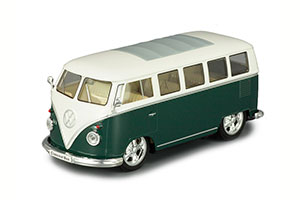 VW VOLKSWAGEN BUS LOWRIDER 1962 GREEN WITH WHITE *ФОЛЬКСВАГЕН ФОЛЬЦВАГЕН