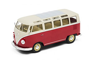 VW VOLKSWAGEN T1 SAMBA BUS 1962 RED WITH WHITE *ФОЛЬКСВАГЕН ФОЛЬЦВАГЕН