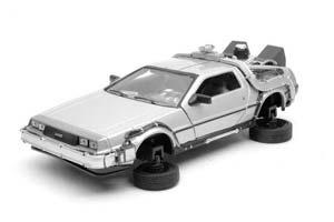 DELOREAN DMC-12 FROM MOVIE BACK TO FUTURE II 1989 GREY (СО СКЛАДЫВАЮЩИМИСЯ КОЛЕСАМИ) *ДЕЛОРЕАН ДЕЛОРИАН НАЗАД В БУДУЩЕЕ