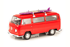 VW VOLKSWAGEN BUS T2 1972 RED WITH SURF BOARD *ФОЛЬКСВАГЕН ФОЛЬЦВАГЕН