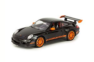 PORSCHE 911 GT3 RS 2007 BLACK WITH ORANGE STRIPES AND WHEELS