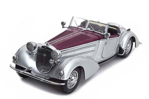 Horch 855 Roadster 1939 Dark Red/Silver