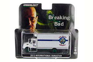 INTERNATIONAL DURASTAR BOX VAN LOS POLLOS HERMANOS 2013 (FROM THE TV SERIES BREAKING BAD) GREEN WHEELS *ИНТЕРНЭШНЛ