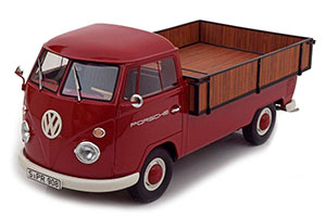 VW VOLKSWAGEN T1 PICK UP PLATFORM PORSCHE 1965 RED