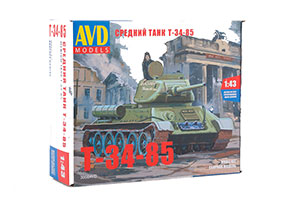 MODEL KIT MEDIUM PANZER T-34-85 (USSR RUSSIAN PANZER)   СБОРНАЯ МОДЕЛЬ СРЕДНИЙ ТАНК T-34-85 *СБОРНАЯ МОДЕЛЬ