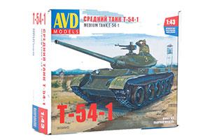 MODEL KIT MEDIUM PANZER T-54-1 (USSR RUSSIAN PANZER)   СБОРНАЯ МОДЕЛЬ СРЕДНИЙ ТАНК T-54-1 *СБОРНАЯ МОДЕЛЬ