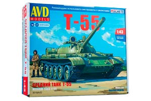 MODEL KIT PANZER TANK T-55 (USSR RUSSIA)   СБОРНАЯ МОДЕЛЬ СРЕДНИЙ ТАНК Т-55 *СБОРНАЯ МОДЕЛЬ
