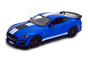 FORD SHELBY MUSTANG GT500 2020 BLUE METALLIC/WHITE *ФОРД ФОРТ