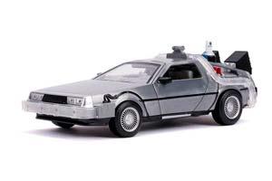 DELOREAN TIME MACHINE BACK TO THE FUTURE II 1989 SILVER | DELOREAN НАЗАД В БУДУЩЕЕ 2 (С ПОДСВЕТКОЙ) *ДЕЛОРЕАН ДЕЛОРИАН НАЗАД В БУДУЩЕЕ