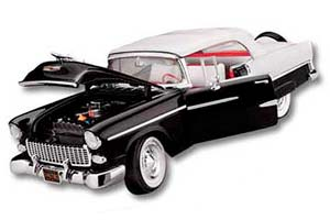 CHEVROLET BEL AIR CONVERTIBLE 1955 BLACK/WHITE LIMITED EDITION 7500 PCS.
