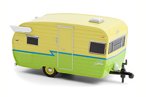 SHASTA AIRFLYTE YELLOW/GREEN WITH BLUE STRIPE