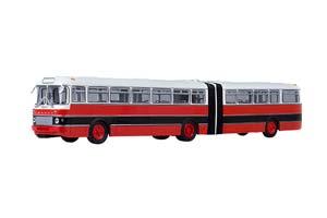 IKARUS 180 (USSR RUSSIAN BUS) 1969 RED/BLACK (BULGARIA) | ИКАРУС-180 КРАСНЫЙ/ЧЕРНЫЙ (БОЛГАРИЯ)
