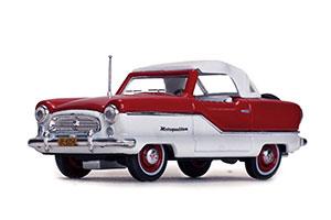 NASH METROPLITAN COUPE 1959 RED/WHITE