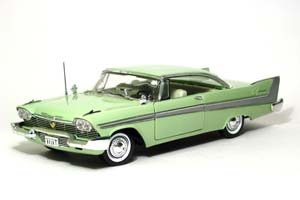 PLYMOUTH BELVEDERE COUPE 1958 LIGHT GREEN