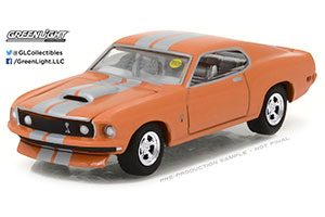 FORD MUSTANG RESTO MOD 1969 ORANGE WITH SILVER STRIPES