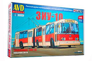 MODEL KIT ZIU-10 (ZIU-683) TROLLEY (USSR RUSSIAN CAR) | СБОРНАЯ МОДЕЛЬ ЗИУ-10 (ЗИУ-683) ТРОЛЛЕЙБУС