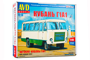 MODEL KIT BUS KUBAN G1A1 (USSR RUSSIAN BUS) | СБОРНАЯ МОДЕЛЬ АВТОБУС КУБАНЬ Г1А1