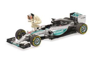 Mercedes AMG Petronas F1 Team W06 Hybrid Lewis Hamilton Winner USA GP 2015 Set W/ Figurine