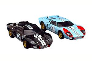 FORD GT40 MK2 SET WINNER AND 2ND 24H LE MANS 1966 MCLAREN/AMON MILES/HULME IN GIFT-BOX MODELCAR-FAHRZEUG DES JAHRES 2020