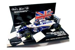 WILLIAMS FW16 D.HILL BRITISH GP 1994 WINNER W. FLAG #0 *ВИЛЬЯМС
