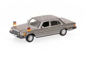 MERCEDES W116 350 SEL 1972 HELMUT SCHMIDT 1972 GRAY WITH FIGURINE *BENZ BENC МЕРСЕДЕС БЕНС МЕРСИДЕС МЕРСЕДЕЗ БЕНЦ