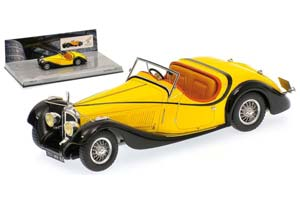 VOISIN C27 GRAND SPORT CABRIOLET 1934 YELLOW WITH BLACK