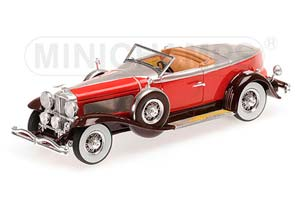 Duesenberg Model J Torpedo Convertible Coupe 1929 Dark Red/Red/Silver Limited Edition 999 pcs.