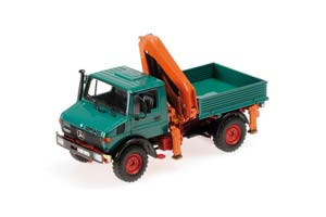 MERCEDES UNIMOG 1300 L TIPPER WITH LOADING CRANE 1976 GREEN