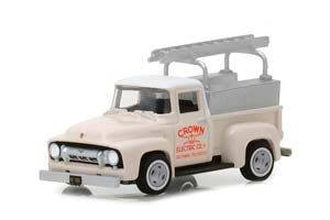 FORD F-100 PICK-UP CROWN ELECTRIC COMPANY ELVIS PRESLEY 1954 BEIGE *ФОРД ФОРТ