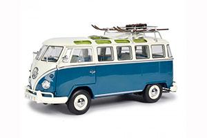 VW VOLKSWAGEN T1B SAMBA WINTERSPORT 1962 BEIGE/MARINO