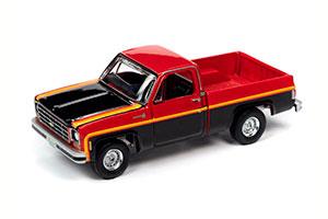 CHEVROLET C10 SCOTTSDALE SPORT PICKUP TRUCK RED AND BLACK 1979