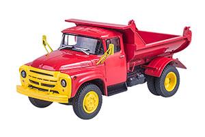 ZIL MMZ 555 AUTOEXPORT (USSR RUSSIAN) 1974 RED | ЗИЛ-ММЗ-555 САМОСВАЛ (РАННЯЯ ОБЛИЦОВКА РАДИАТОРА) АВТОЭКСПОРТ