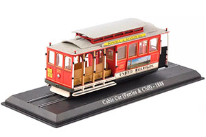 TRAM CABLE CAR (FERRIES & CLIFF) SAN FRANCISCO TRAM 1888 RED *ТРАМВАЙ