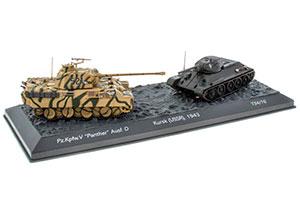 TANK SET T-34-76 AND PANZER V PANTHER AUSF.D (SD.KFZ.171) 1943   НАБОР ТАНК Т-34-76 И PANZER V PANTHER AUSF.D (SD.KFZ.171) КУРСКАЯ ДУГА СССР *ТАНК БТР