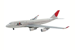 BOEING B747-400 JAPAN AIR LINES WITH STAND