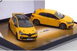 RENAULT CLIO R.S.16 & MEGANE R.S. 2-MODELS SET 2017 YELLOW