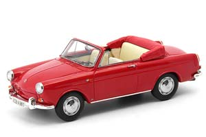 VW 1500 TYPE 3 CONVERTIBLE RED GERMANY 1961